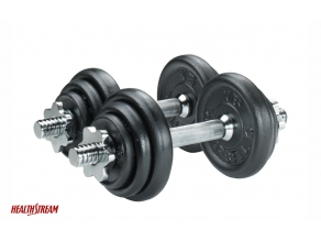 RM135 for HealthStream 10kg Dumbbell Set (worth RM185)