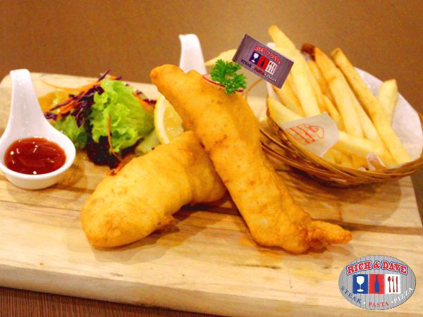 RM9 OFF for Fish & Chips@Rich & Dave-D' Cafe & Steak House(Worth RM19.90)