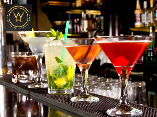 Free Glass of Cocktail Upon Any Main Course Purchase @ Whisky House (Worth RM28)