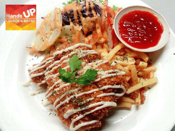 15% OFF for All Food on the Menu @ Hands Up Lounge & Bistro