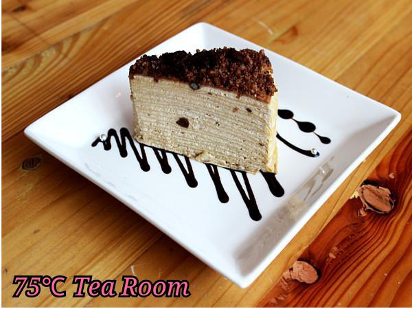 RM9.90 for 75'C Tea Room's Crepe cake + Coffee/Tea (worth RM14.80)