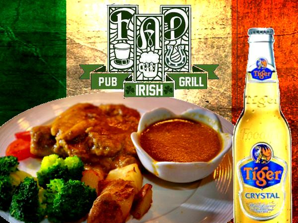 Get a Free Tiger Beer with Any Main Course Purchase @ FAD Irish Bar