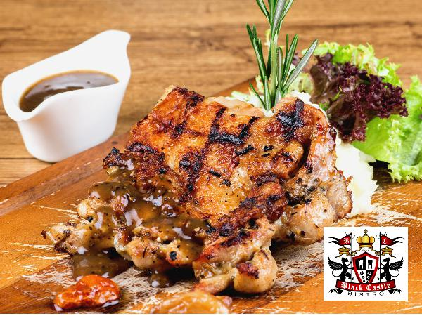 RM15.90 for Grilled Chicken with Potato Mash Lunch Set @ Black Castle Bistro (worth RM31.80)