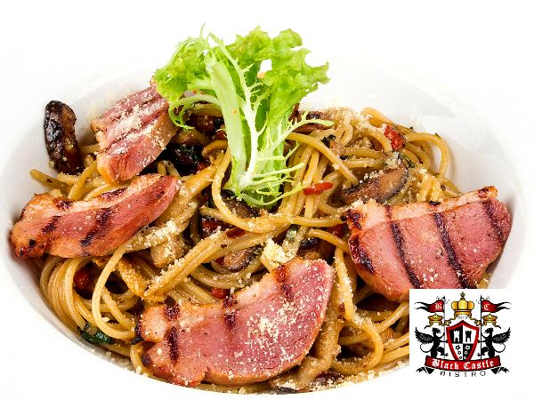 RM15.90 for Spaghetti with Smoke Duck Lunch Set @ Black Castle Bistro (worth RM31.80)